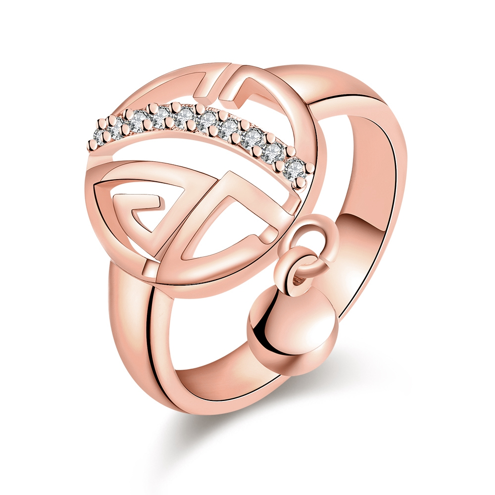 2018 fashion creative personality womens jewelry cute sweet expression geometric modeling ring high-grade alloy jewelry