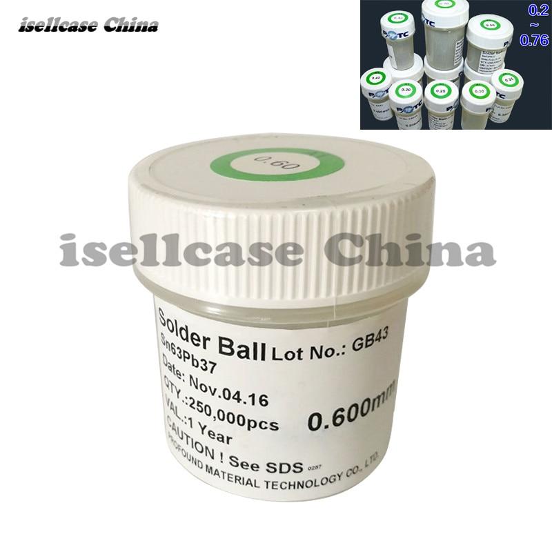 Best Quality BGA Solder Ball PMTC 250k 0.2 0.65 MM Leaded lead BGA soldering ball kit for BGA rework reballing Set for iphone lead free bga solder balls 250k 0 35mm for bga repair bga reballing kit bga solder ball