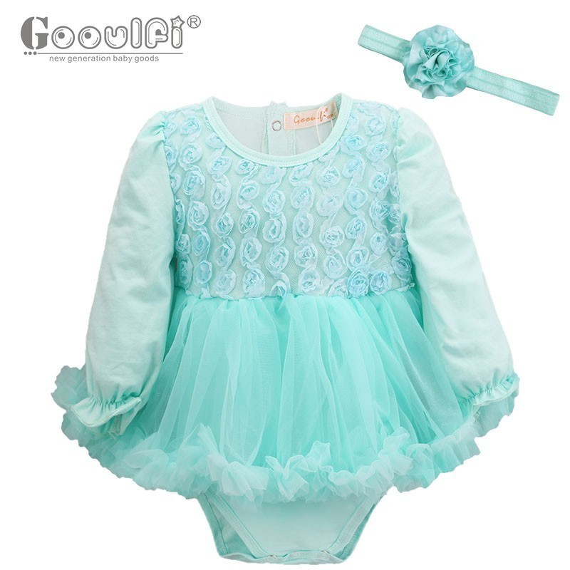 Gooulfi Baby Rompers Floral Fashion Rompers O-Neck Baby Girl Clothes 3-18Months Full Sleeve Cotton Baby Clothing For New Newborn