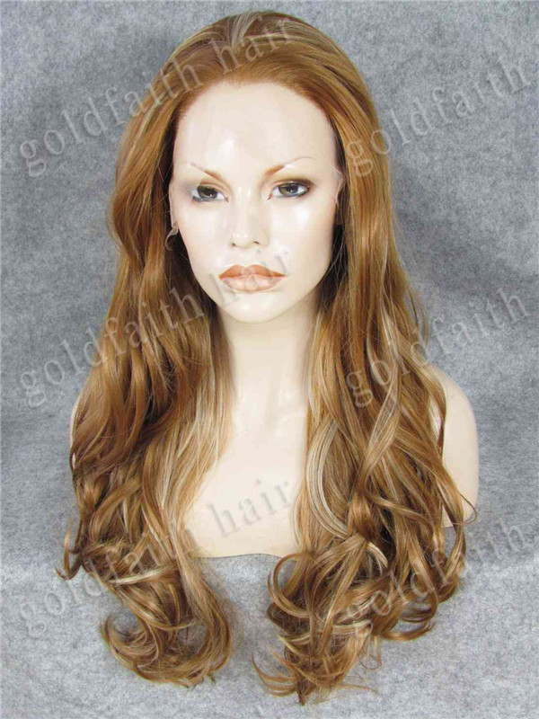 #27HR/613 Mix Blonde Long Fashion Wavy Lace Front Synthetic Braiding Hair Wig Natural Stylish Heat Resistant