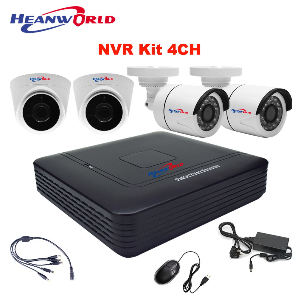 Mini NVR kit 4CH network IP camera system dome camera indoor bullet camera outdoor 720P security system CCTV  surveillance cam|cam cam|cam 720p|cam surveillance - title=
