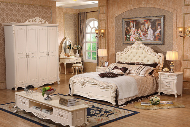 Complete Set Royal White Bedroom Furniture with Factory Price-in ...