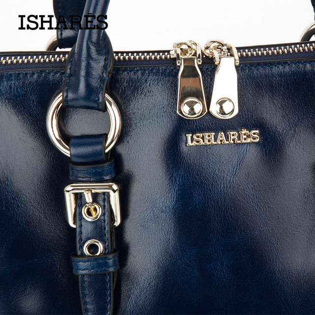 2016 New Women Oil Wax Leather Bags Fashion Women Leather Handbag Vintage Female Shoulder Bag Genuine Leather IS8018