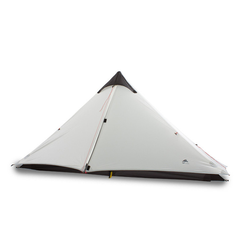 Hot Sale Double Ultra Light 15D Silicone Without Pole Tent  Rain-Proof Wind Resistance Tent Outdoor Camping Hiking Tent outdoor double layer 10 14 persons camping holiday arbor tent sun canopy canopy tent