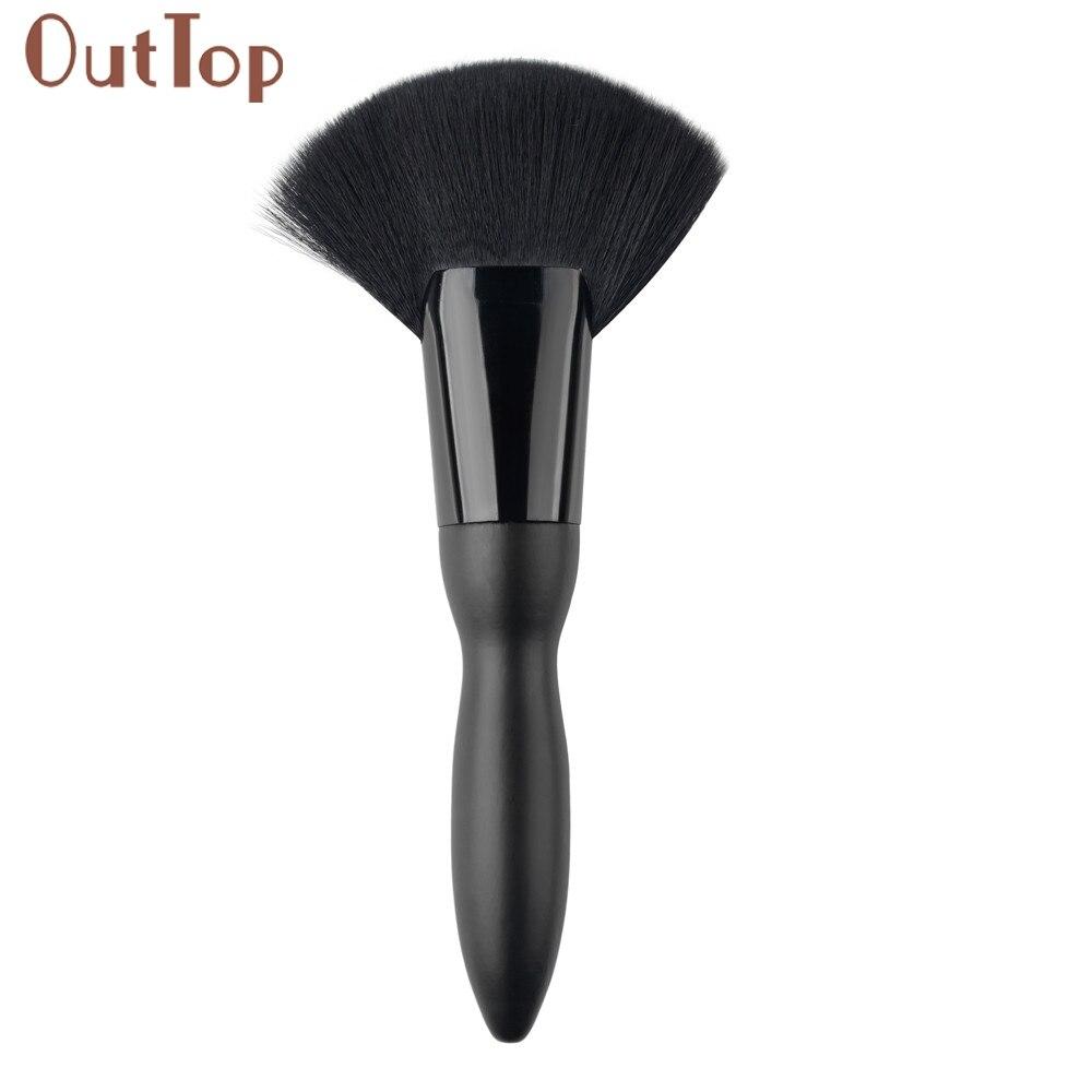 pincel maquiagemGRACEFUL 1 PC Makeup Fan Goat Hair Blush Face Powder Foundation Cosmetic Brush SEPT7