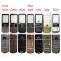 Высокое качество металлический полный корпус для Nokia 6700 6700C передняя рамка + крышка батареи + английский/клавиатура с русским шрифтом