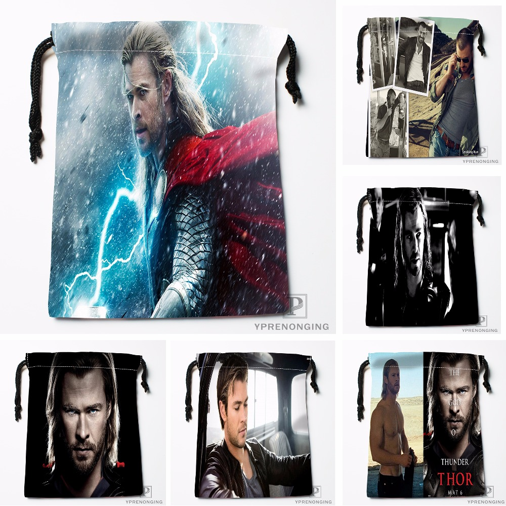 Custom Chris Thor Drawstring Bags Printing Travel Storage Mini Pouch Swim Hiking Toy Bag Size 18x22cm#180412-11-71