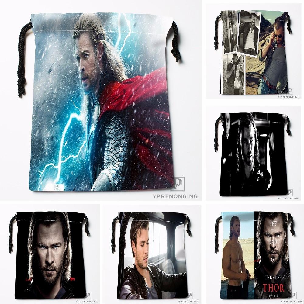 Custom Chris Thor Drawstring Bags Printing Travel Storage Mini Pouch Swim Hiking Toy Bag Size 18x22cm#180412-11-71