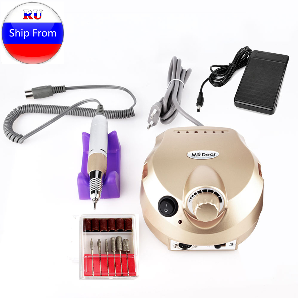 35000RPM Electric Nail Drill Manicure Machine Sets Nail Files Bit Accessory Pedicure Pro Milling Cutter Polishing Nail Art Tool in Electric Manicure Drills from Beauty Health