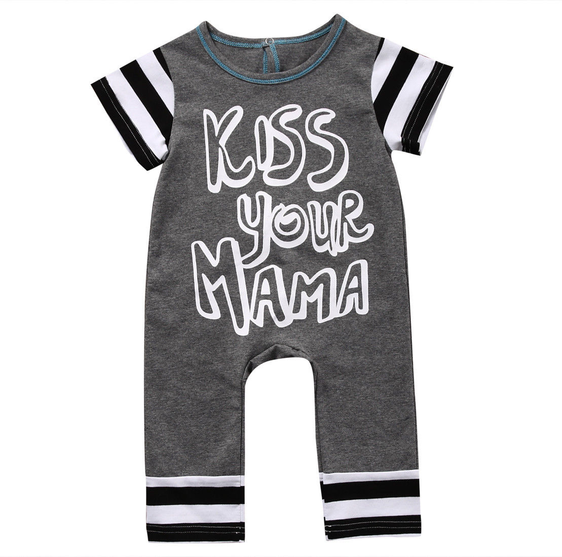 Newborn Baby Boys Clothes 2017 Summer Short Sleeve Cotton Romper Letters Print Baby Boys Rompers Baby One-piece Outfits cotton i must go print newborn infant baby boys clothes summer short sleeve rompers jumpsuit baby romper clothing outfits set
