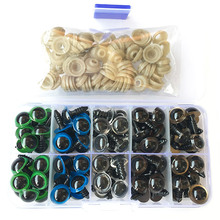 50 Pairs 10mm/12mm Mix Color Plastic Safety Eyes High quality Cute For Teddy Bear Stuffed Toys Snap
