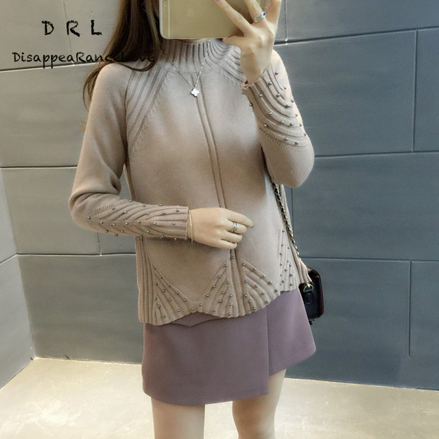 Turtleneck sweater female winter thickening loose short design sweater top women's autumn and winter pullover