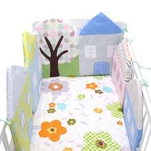 Новые Детские бамперы, 5 шт., детская кровать с рисунком из мультфильма, бампер, хлопок, детские защитные подушки, комфортная Детская кровать, Комплект постельного белья для малышей