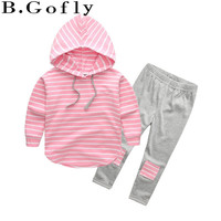 Fashion Boy Toddler Baby Sport Suit Set Girl Clothing Coat Hooded Tops Coats Outwear Jackets Children Tracksuit Kids