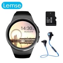 2016 venta kw18 smart watch smartwatch bluetooth sim huawei xiaomi redondo reloj monitor de ritmo cardíaco para apple samsung gear s2