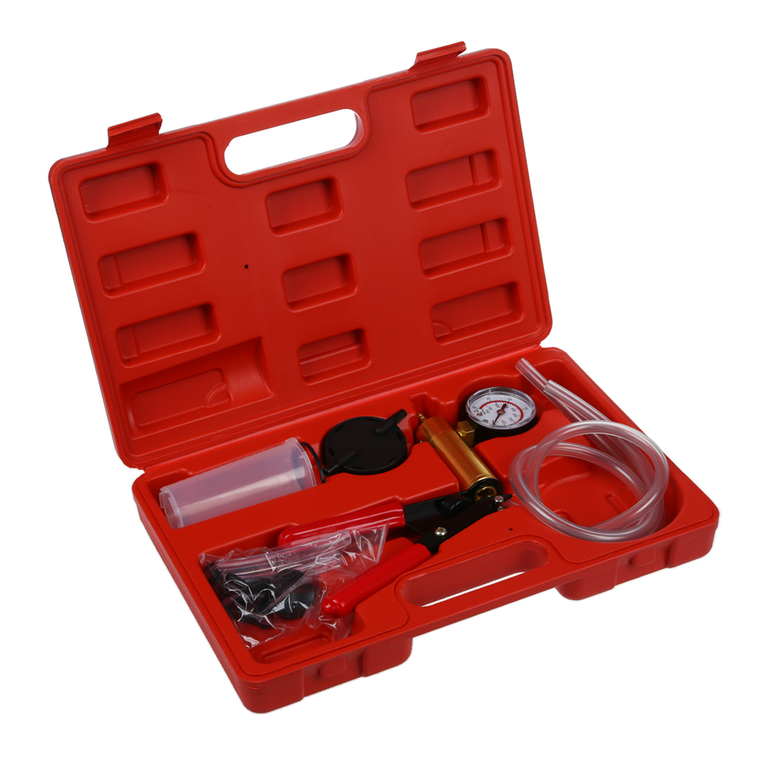 Vacuum Tester Hand Held Vacuum Pump Kit Car Tool Vacuum Testing Tool And Brake Bleeder Car Auto Pressure Tester Set With Box