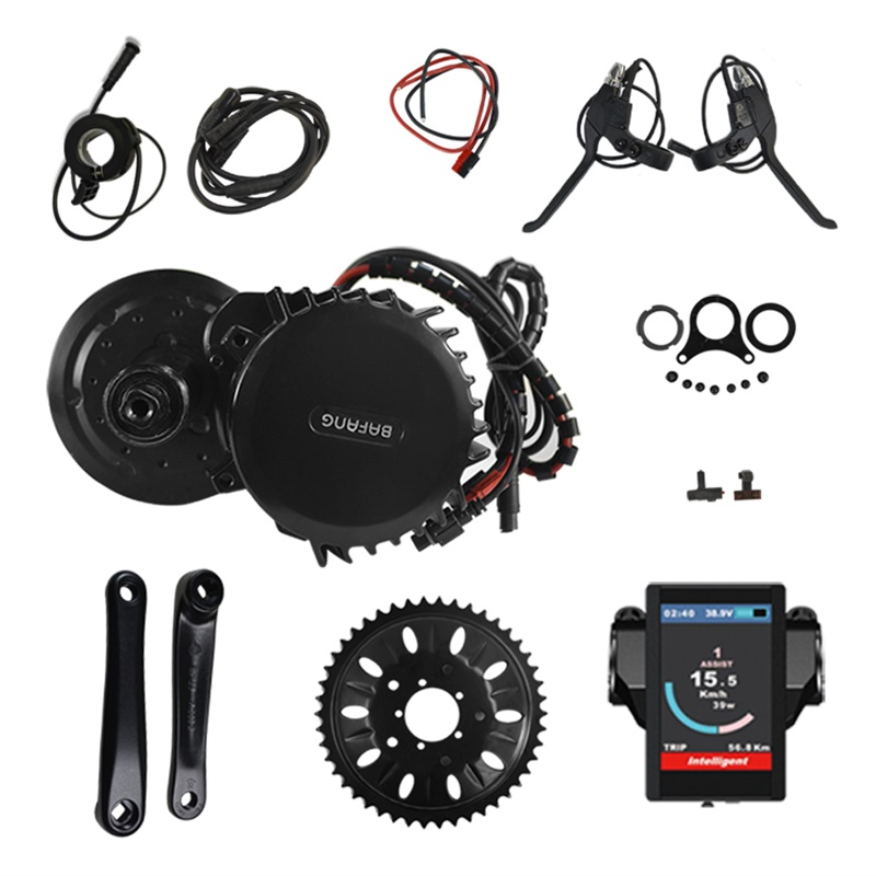 Electric Bike Middle Engine Kit 48V 1000W 120mm 46T Bafang 8Fun BBS BBS03 BBSHD Mid Drive Motor Conversion Kit with Display free shipping electric bicycle 48v 1000w 8fun bafang bbs03 bbshd mid drive motor kit 68mm 100mm 120mm with c965 lcd display