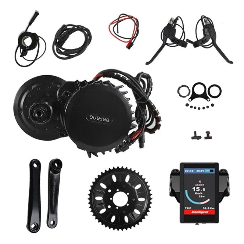 Vélo électrique Du Moteur Au Milieu Kit 48 V 1000 W 120mm 46 T Bafang 8Fun BBS BBS03 BBSHD Mi Moteur D'entraînement Conversion Kit avec affichage