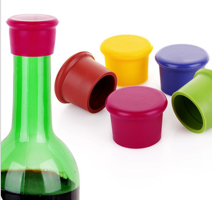 500pcs silicone wine stoppers Leak free wine bottle sealers for red wine and beer bottle cap image