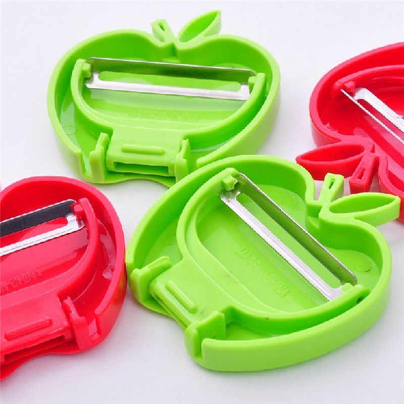 practical mini foldable apple-shaped peeler fruit parer peeler  Fruit Peeler Grater Vegetable Slicer Kitchen Accessories
