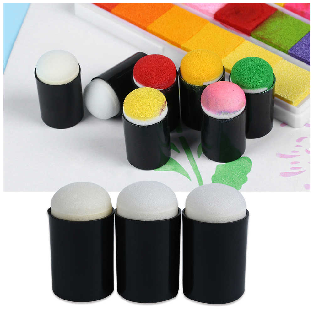 2pcs/lot Sponge Daubers for Finger Daubers Sponger Foam Applying Ink chalk Inking Staining DIY Scrapbooking Painting Tools
