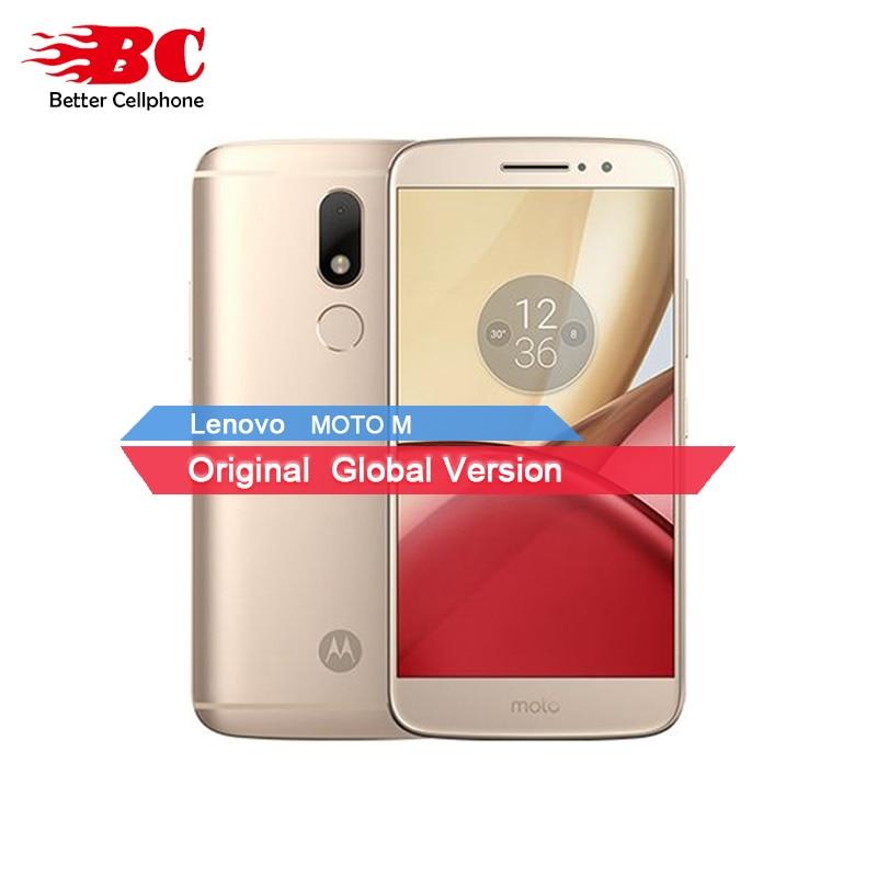 D'origine Motorola Moto M XT1662 Mobile Téléphone 4G LTE MTK Helio P10 Octa Core 5.5 4G RAM 32G ROM Android 6.0 16.0 PM Smartphone