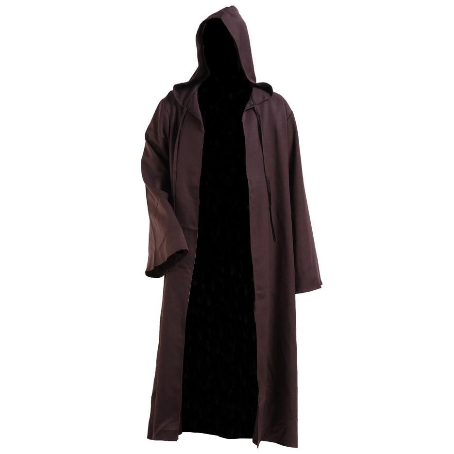 Csillagok háborúja Kenobi köntös Jedi TUNIC köpenyt Kapucnis Cosplay jelmezek felnőtt férfiaknak Halloween jelmezek
