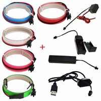 Nowy 1 M LED elastyczne Neon Glow EL taśma efekt stroboskopowy elektroluminescencyjne wstążka kabel wodoodporny led pasek światła