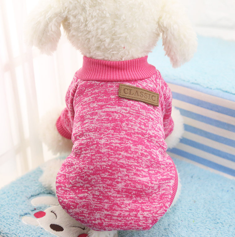 Classic Warm Dog Clothes Puppy Pet Cat Jacket Coat Winter Fashion Soft Sweater Clothing For Chihuahua Yorkie 9 Colors XS-2XL 25