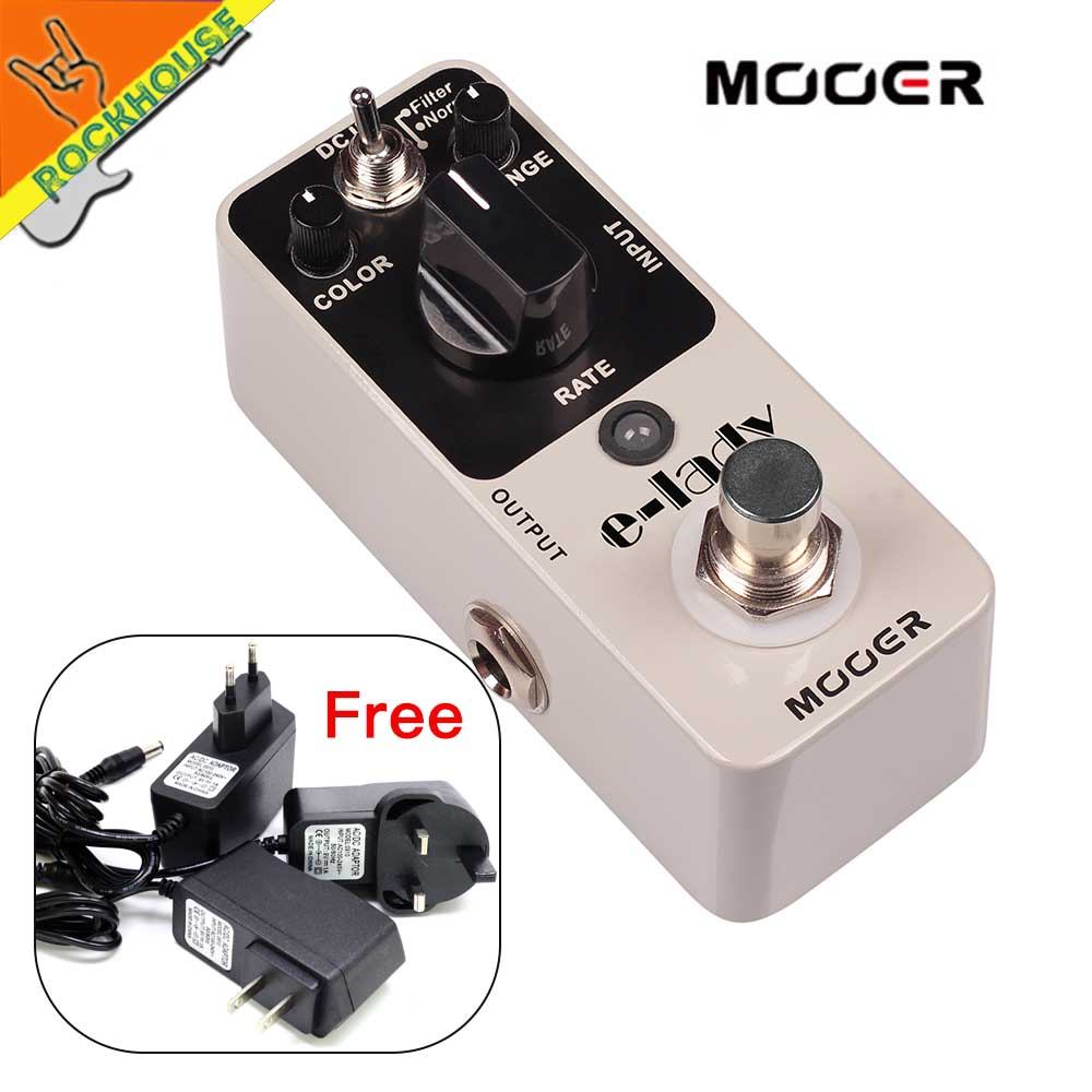 MOOER Eleclady E-lady Vintage Analog Flagner Guitar Effects Pedal Sounds Imposing Filter & Normal Mode True Bypass Free shipping