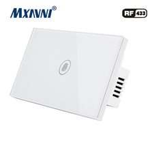 MXAVNI US Standard Remote Control Switch 1 Gang 1 Way ,RF433 Smart Wall Switch, Wireless remote control touch light switc us standard sesoo remote control switch 2 gang 1 way rf433 smart wall switch wireless remote control touch light switch