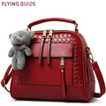 FLYING BIRDS! women leather handbag women bags shoulder bag high qaulity handbags bolsas messenger bags elegant pouch LS8990fb