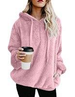 2018 New Pullover Women Fashion Autumn Winter Pull Femme Warm Outwear Cashmere Sweate Women Hooded Collar Plus Size