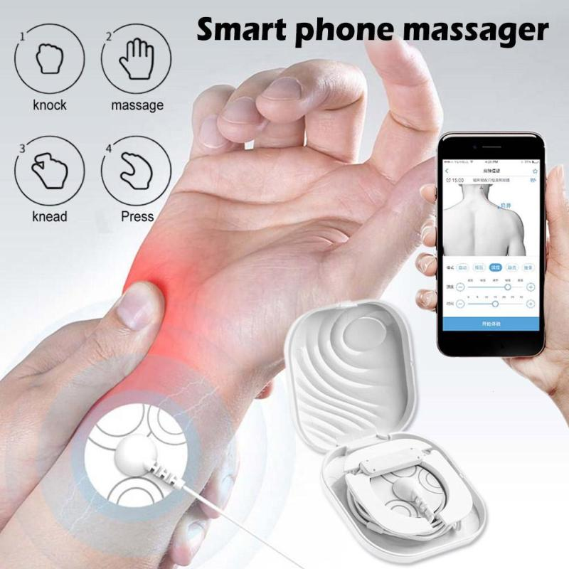 Mini Portable APP Smart Phone Massager Multifunctional Biological Physiotherapy Phone Control Body Massage Relax R3 multifunctional mini size portable wireless bluetooth app smart massager biological physiotherapy phone control massager hot