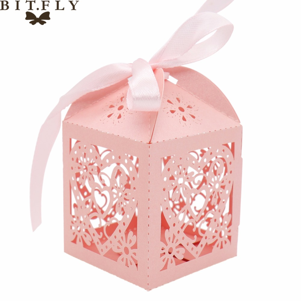 50pcs flower Chocolates Cookie Candy Box Wedding favors Decor DIY ...