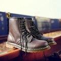 Tamanho 38-45 Homens Da Moda Martin Botas Sapatos de Couro Genuíno Dos Homens Tornozelo Preto Primavera Sapatinho Bota de Cowboy Moda Casual sapatos 1406