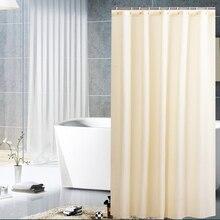 Занавеска для душа водонепроницаемый плесени доказательство ЧЕРНЫЙ занавеска для душа s домашнее украшение ванной комнаты сплошной цвет занавеска для душа D40