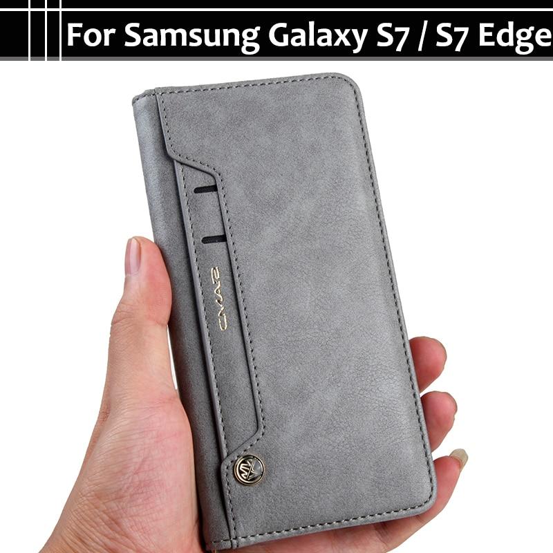 EiiMoo Phone Case For Samsung Galaxy S7 S 7 Edge S7Edge Stand Card PU Wallet Flip Leathe ...