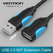 Venção USB 2.0 Macho para Fêmea USB Cabo de Extensão Cabo de Extensão Extender Para PC Laptop
