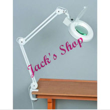 8X Desk Table Clamp Mount Magnifier Lamp Light Magnifying Glass Lens Diopter