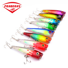 7g/65mm Colorful Bait Popper Fishing Lures Saltwater Sea fishing Artificial Treble Hook Jerkbait Pesca  Carp Bass Crankbait