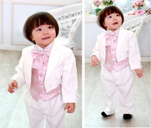 Top selling/Free shipping/custom cheap new style white Kid Tuxedos Boy's Suits Special Occasion Clothes Boys' Attire