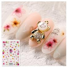 Newest WG-2006 sakura design 3D nail sticker template decals Japan type DIY decorations tools for wraps