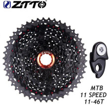 купить ZTTO Bicycle Freewheel 11-46T MTB Mountain Bike Bicycle Parts 11s 22s 11Speed Freewheel Cassette For XT SLX M7000 M8000 M9000 по цене 4070.7 рублей