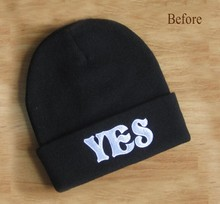 YES or NO Hat Letter Print Embroid Men Winter Beanie SPORTS Women Basketball CAP Beanie Hat Hiphop Skullies warm knitted hats