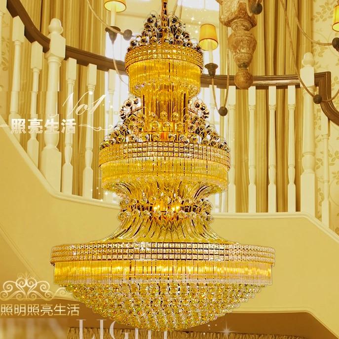 Zlati kristalni lestenec luči pritrditev ameriški sodobni lestenci - Notranja razsvetljava - Fotografija 3