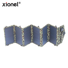 Xionel Solar Charger 40 W Portabel Solar Panel Lipat 5 V USB 18 V DC Dual Output Charger untuk Ponsel laptop Tablet(China)