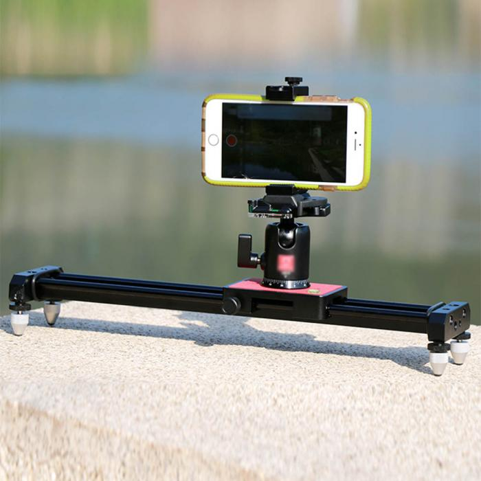 40cm Portable Mini Video Slider Stabilizer Compact Dolly Rail Youtube  Vloging Gear Travel DSLR DV Camera Damping Track GDeals
