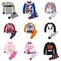 Niños ropa conjuntos niños captain america superman spiderman batman pijamas dinosaurio niño niñas ropa de dormir pijamas del bebé de los pijamas