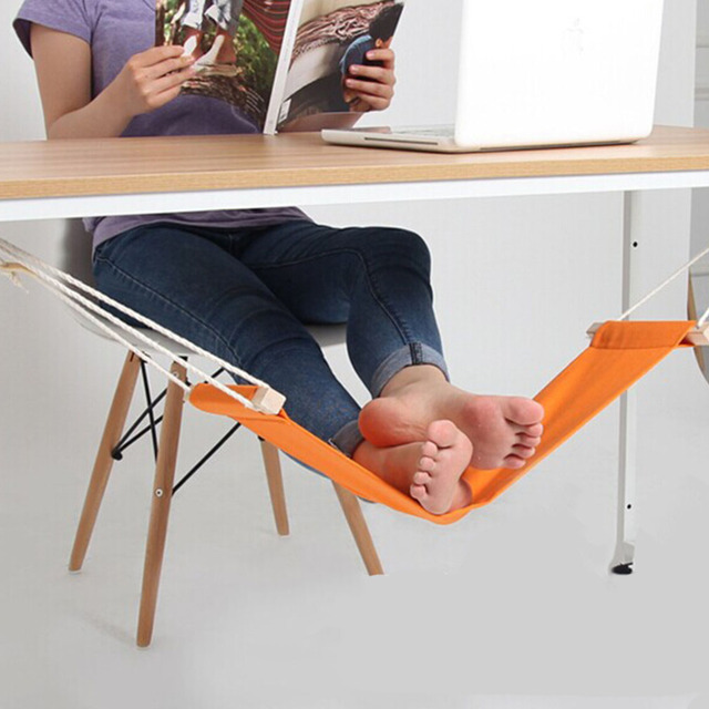Hot ! Mini Office Foot Rest Stand Feet Hammock Easy to Disassemble Home Library